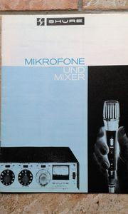 SHURE - Preisliste Kataloge 1965 71