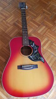 Gitarre Westerngitarre Stahlseiten