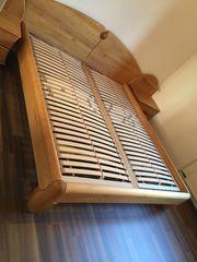 Komplettes Schlafzimmer Bett Kleiderschrank zwei