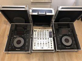 2x Pioneer CDJ900 & DJM850-W Mit Cases