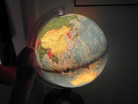 RETRO GLOBUS Nachkriegs DESIGN 65 Jahre alt original Beleuchtung vom Erstkauf