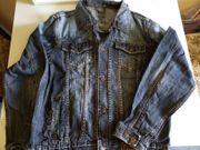 Super Jeans-Jacket Größe L blaugrau
