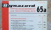 DYNACORD - Preisliste Katalog - Raritäten