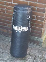 Verkaufe Boxsack mit Handschuhen