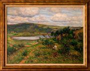 MeisterGemälde WILHELM FRITZEL 1870 Maar-Landschaft