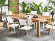 Gartentisch zertifiziertes Holz braun 190