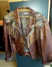 Cowboy Western Jacke mit Fransen