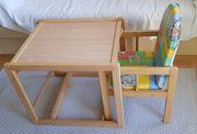 Kombi-Hochstuhl 2-in-1 Kindertisch und Kinderstuhl
