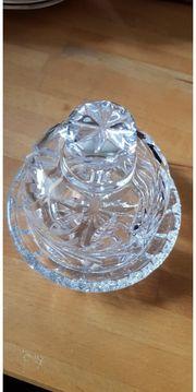 Bleikristall Schale mit Deckel