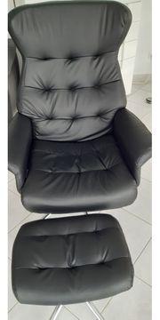 Bürostuhl Relaxstuhl mit Hocker
