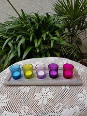 Ein modernes Teelicht-Deko-Objekt