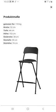 2x Klappstuhl Barhocker Stuhl Hocker