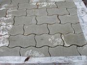 Pflastersteine Welle grau