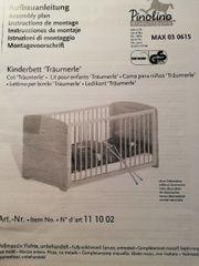 Babybett Kinderbett Pinolino Träumerle