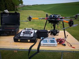 RC-Modelle, Modellbau - EVO-X8 koax Okto Drohne UAV