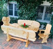 Schöne Massivholz Garnituren