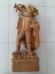 Handgeschnitzte Holzfigur Trompeter von Säckingen