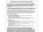Vertriebsingenieur B2B Account Manager gn