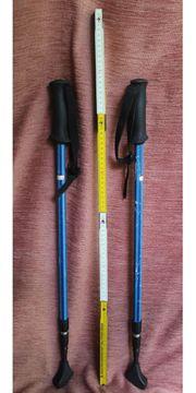 Treckkingstöcke blau Walkingstöcke ausziehbar von