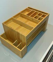NEU Schreibtisch-Organizer Bambus