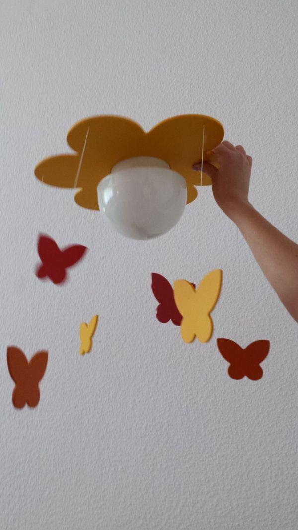 Kinderzimmer Deckenlampe Blume mit Schmetterlingen in ...