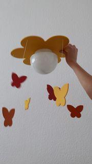 Kinderzimmer Deckenlampe Blume mit Schmetterlingen