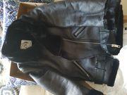 Neu Zara Doubleface-Bikerjacke xs schwarz