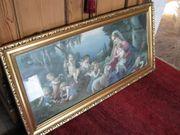 Wunderschönes altes Heiligenbild Maria Jesus
