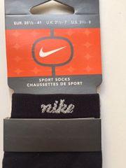 Nike Sport Socks-Kurzsocken-Knöchelsocken-schwarz-NEU-35 1 2-41