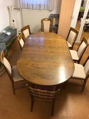 Tisch Esszimmer mit 8 Stühlen