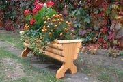 Pflanzgefäß Holz rustikal dekorativ Unikat