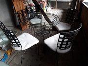 Handgefertigte Schmiedeiserne Sitzruppe