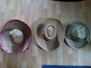 3 schöne Strohhüte Sombrero Fasching