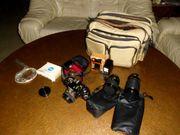 Minolta X-700 Spiegelreflexkamera mit Zubehör