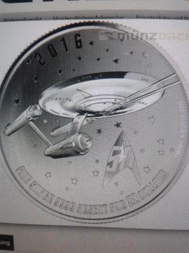 Star Trek 20 Dollar Silber Münzen