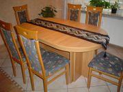 Tisch und Stühle Highboard Vitrine