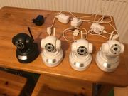 4 WLAN IP-Kameras Nachtsicht 360Grad
