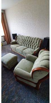 Couchgarnitur mit sessel und Hocker