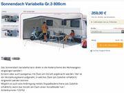 HERZOG- Sonnendach für Wohnwagen