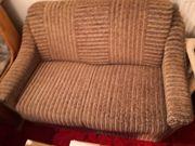 Sofa 2-Sitzer braun-gemustert