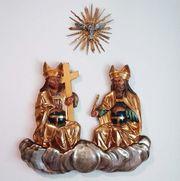 Trinität Wand-Skulptur antik Kapelle Kirche