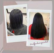 Schwarze Haarverlängerung Keratin Bonding russisches