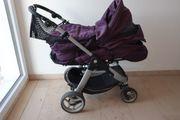 Kinderwagen Buggy Teutonia mit Baby-Tragetasche