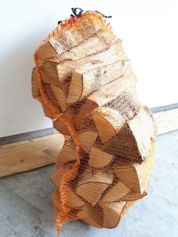Brennholz im Netzsack - Birken- Hart-