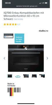 Siemens iq700 kompaktbackofen Studio Line
