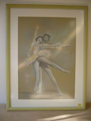 Gemälde - Pastell - Berger Edgar - Schwanensee
