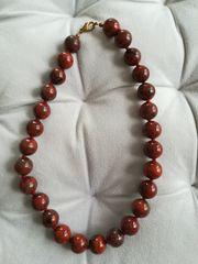 Echtsteinkette Jaspis rot Steinkette Schmuck