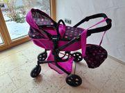 Puppen-Kinderwagen mit Tasche