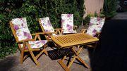 Garten- Balkon-Möbel Massiv-Holz