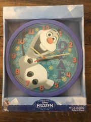 Kinder Wanduhr Frozen Olaf
